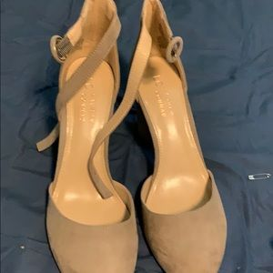 Beige/taupe wedges